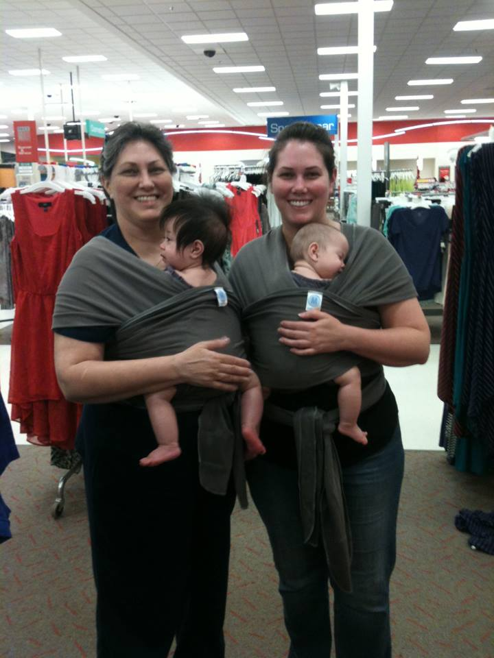 Baby Wearing at Target